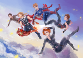 :: AVENGERS ASSEMBLED :: by Fiveonthe