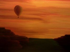 Hot air evening by pflipart