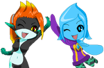 Midna and Fi High 5 (Journal Doll i Guess) by MidnaCookies1425