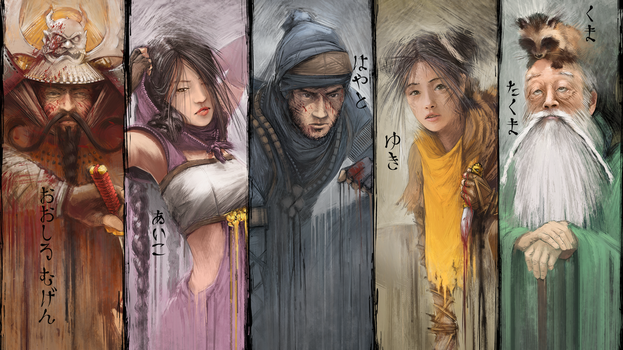 Shadow Tactics - All Characters [Wallpaper 4K] by lucas-reiner