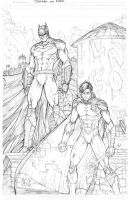 Batman and Robin Commission by vmarion07
