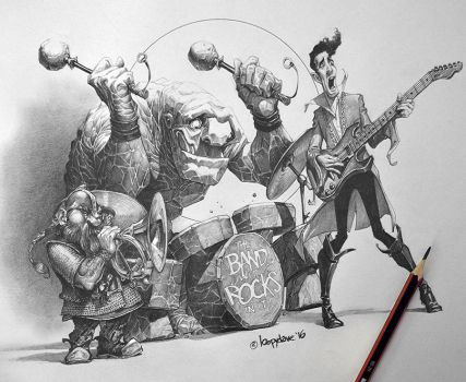Band with Rocks in by Loopydave