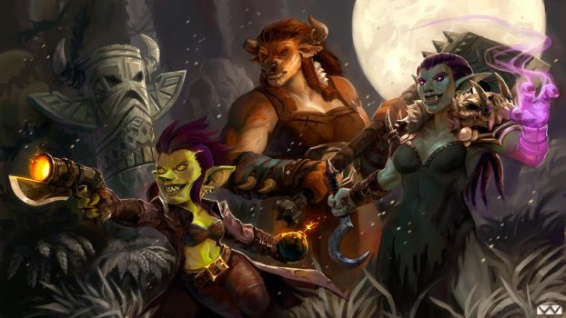 Warcraft Fan Art by wood-illustration