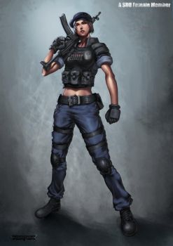 Military - Female SDU Agent by reaper78