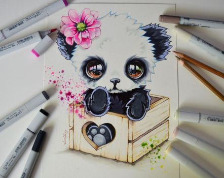 Panda in a Box by Lighane
