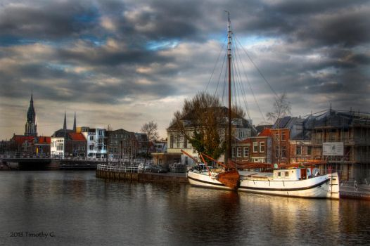 The harbour of Delft by TimothyG81