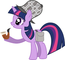 Detective Twilight Sparkle by 90Sigma