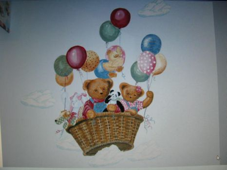 mural childs room by Tlynndra