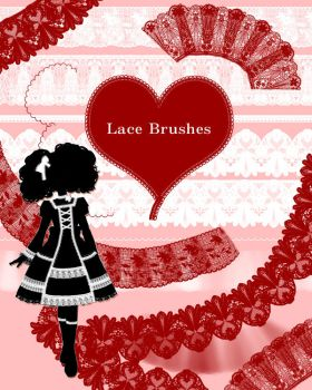 lace brushes by gimei