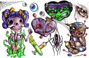 Haunted Flash Sheet From Hell by InkyDinkyWho