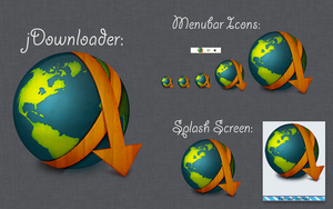 jDownloader Splash Screen and Menubar Wood Icons by TheRoaring20s