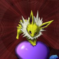 Jolteon loves exorcising balls by Axaura-Studios