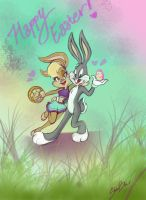 Bugs And Lola Easter by ShadowBabe1