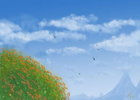 cloud/plant study by Terry-Mosier