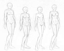 Female body sketches by merrypaws