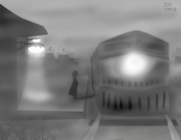 Sketch Of The Day 2: The Train by coinoperatedbear