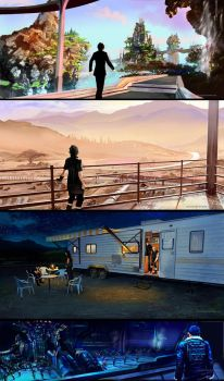 Final Fantasy XV scenes by Caucasian-eagle