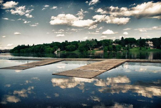 South Saskatchewan River Dock by wednesdayssong