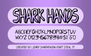 Shark Hands - Font by TheSharkMaster