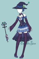 Witch outfit adoptable CLOSED by AS-Adoptables