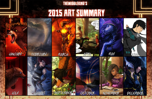 TheWiggleKing's 2015 Art Summary by TheWiggleKing