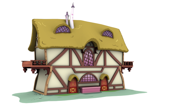 Ponyville Model - Wide_B Front (Game/Animation) by discopears