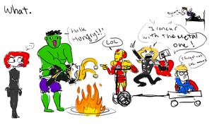 Whatvengers by albinovamp