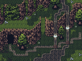 Test Map: Forest Tileset by ViridianMoon