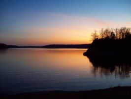 The Lake at Dusk by Mistshadow2k4