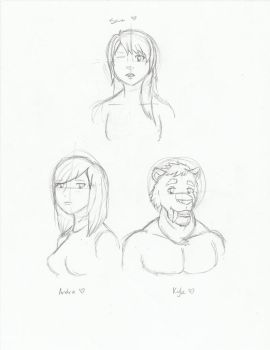 Character Sketches by ArtGuy404