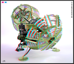 Time Machine 3D Anaglyph by Hameed