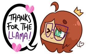 Thanks For The Llama by NPC-Jes