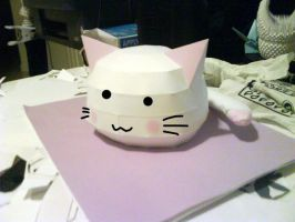 lucky star cat papercraft by solessthanthree