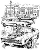 Shelby Cobra Mach 1 Mustang by MartySalsman