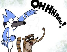 _.MORDECAI AND RIGBY._ by LOLGirlization