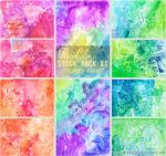 COLORED GLASS - WATERCOLOR STOCK PACK XI by AuroraWienhold