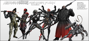 Metal Gear Rising Revengeance - Render Pack by Crussong