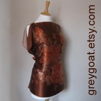 Ria Vintage Satin Scarf Top by UKEtsy