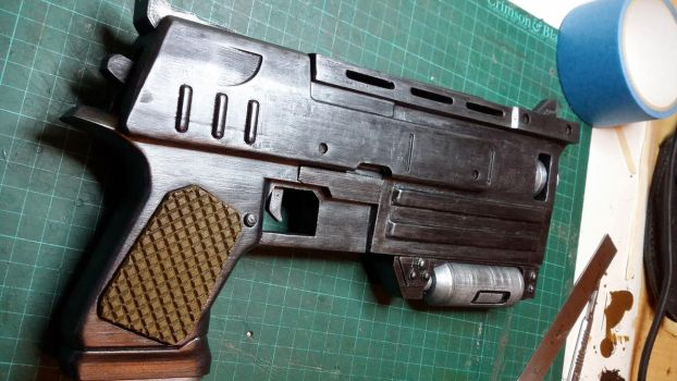 Fallout 3 10mm Pistol RHS by atrum-lupus