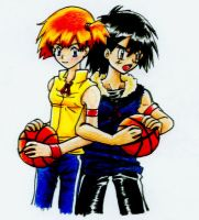 Ash and Misty: Double Team by usagituskino321