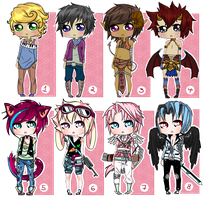 Mixed male adopts: Closed by Decora-Adopts