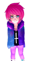 pink haired hipster by Doe-Rae-Me