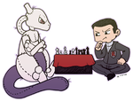 Chess Buddy Mewtwo by roseannepage
