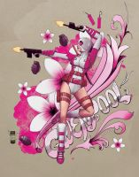 Gwenpool Floral by steevinlove