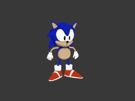 3D Sonic T. by blackdragonstory
