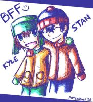 South Park: Stan and Kyle by patsukun