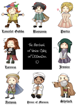 Merchant of Venice Chibi Set by Risuko