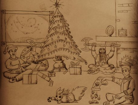 A Merry Christmas Card by Jedi-Master-Autobot