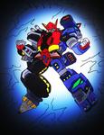 Mark I Megazord for Kaijuduke COMPLETED! by NickinAmerica