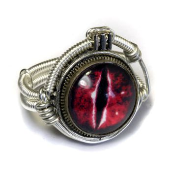 Cyberpunk Red Dragon Ring by CatherinetteRings